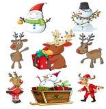 A set of christmas designs Stock Photos