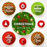Set of Christmas designs Royalty Free Stock Images