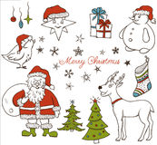 Set of Christmas doodle elements Royalty Free Stock Image
