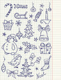 Set of Christmas doodle elements Stock Images