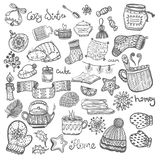 Set of Christmas doodles. Сhristmas doodle icons, set of Christmas doodles Royalty Free Stock Image
