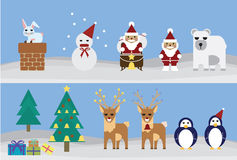 Set of christmas Royalty Free Stock Photos