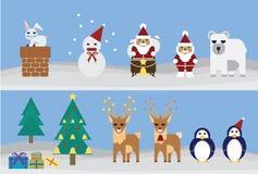 Set of christmas Royalty Free Stock Photos