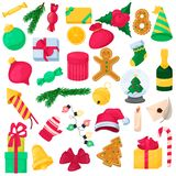 Set of christmas element for design. New year icon. Stock Images