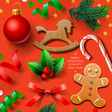 Set of Christmas element Royalty Free Stock Images