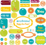 Set of Christmas elements stock illustration
