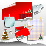 Set of Christmas elements Stock Images