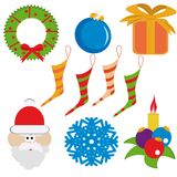 Set of christmas elements Royalty Free Stock Photo