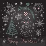 Set of Christmas elements for design Royalty Free Stock Photo