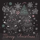 Set of Christmas elements for design Royalty Free Stock Image