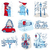 Set of Christmas Elements Stock Photography