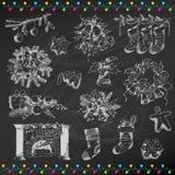 Set of Christmas Elements Stock Photos