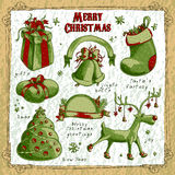 Set of christmas elements Royalty Free Stock Images
