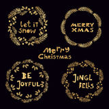 Set of christmas elements1 Royalty Free Stock Photography