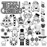Set Of Christmas Elements Isolated On White Background Royalty Free Stock Images