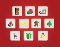 Set of Christmas elements. Royalty Free Stock Photo