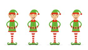 Set of Christmas elves Royalty Free Stock Photo