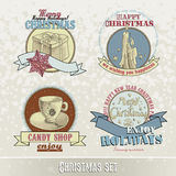 Set of Christmas emblems and designs Royalty Free Stock Image