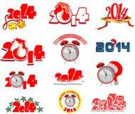 Set of Christmas emblems 2014 Stock Image