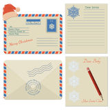 Set of Christmas envelope icons Royalty Free Stock Photography