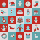 Set of Christmas flat graphic elements. Set of Christmas and new year flat elements. Vector illustration stock illustration