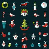 Set of Christmas flat graphic elements Royalty Free Stock Photos