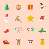 Set of Christmas Flat Icon Royalty Free Stock Images
