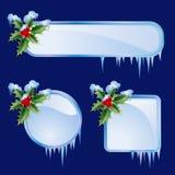 Set from christmas frames stock illustration