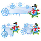 Set from christmas frames Stock Photography