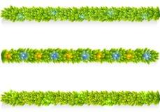 Set of Christmas garlands vector Stock Photography