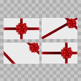 Set of Christmas gift boxes on transparent background. Top view. Vector.  Stock Images