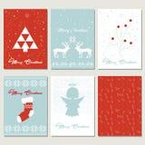Set Christmas gift cards Royalty Free Stock Photo