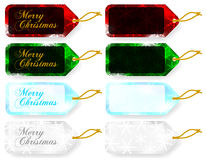 Set of Christmas Gift Tags / Sale Tags Stock Image