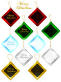 Set of Christmas Gift Tags / Sale Tags Royalty Free Stock Photos