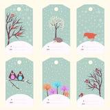 Set of Christmas gift tags Royalty Free Stock Photo