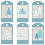 Set of Christmas gift tags Royalty Free Stock Image