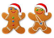 Set of Christmas gingerbread mans Stock Image