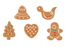 Set of christmas gingersnap Royalty Free Stock Image