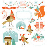 Set of Christmas graphic elements Royalty Free Stock Photo