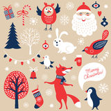 Set of Christmas graphic elements Stock Image