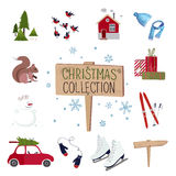 Set of Christmas graphic elements Royalty Free Stock Photography