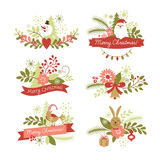 Set of Christmas  graphic elements. Set of Christmas and New Year graphic elements Royalty Free Stock Image