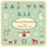 Set of Christmas graphic elements Stock Photo