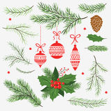 Set of Christmas graphic elements Stock Photography