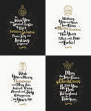Set of Christmas greeting cards Stock Image