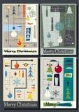 Set of Christmas Greeting Cards stock illustration