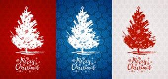 Set of Christmas greeting cards royalty free illustration
