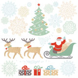Set of Christmas, Happy New Year  elements. Stock Photography