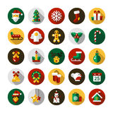 Set of Christmas and Happy New Year flat design Royalty Free Stock Images