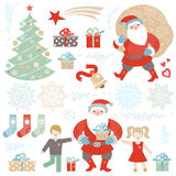 Set of Christmas, Happy New Year vector elements. Stock Photography